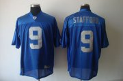 Wholesale Cheap Lions #9 Matthew Stafford Blue Stitched Throwback NFL Jersey