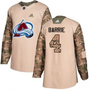 Wholesale Cheap Adidas Avalanche #4 Tyson Barrie Camo Authentic 2017 Veterans Day Stitched Youth NHL Jersey