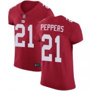 Wholesale Cheap Nike Giants #21 Jabrill Peppers Red Alternate Men's Stitched NFL Vapor Untouchable Elite Jersey