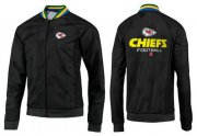 Wholesale NFL Kansas City Chiefs Victory Jacket Black_1