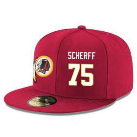 Wholesale Cheap Washington Redskins #75 Brandon Scherff Snapback Cap NFL Player Red with White Number Stitched Hat