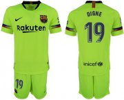 Wholesale Cheap Barcelona #19 Digne Away Soccer Club Jersey