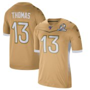 Wholesale Cheap New Orleans Saints #13 Michael Thomas Men's Nike 2020 NFC Pro Bowl Game Jersey Gold