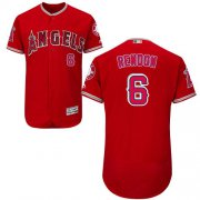Wholesale Cheap Angels of Anaheim #6 Anthony Rendon Red Flexbase Authentic Collection Stitched MLB Jersey