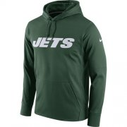 Wholesale Cheap Men's New York Jets Nike Green Circuit Wordmark Essential Performance Pullover Hoodie