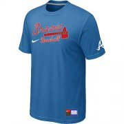 Wholesale Cheap Atlanta Braves Nike Short Sleeve Practice MLB T-Shirt Indigo Blue