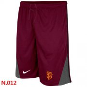 Wholesale Cheap Nike MLB San Francisco Giants Performance Training Shorts Red
