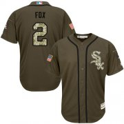 Wholesale Cheap White Sox #2 Nellie Fox Green Salute to Service Stitched Youth MLB Jersey