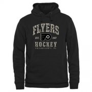 Wholesale Cheap Men's Philadelphia Flyers Black Camo Stack Pullover Hoodie