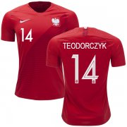 Wholesale Cheap Poland #14 Teodorczyk Away Soccer Country Jersey
