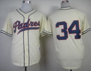 Wholesale Cheap Padres #34 Rollie Fingers Cream 1948 Turn Back The Clock Stitched MLB Jersey