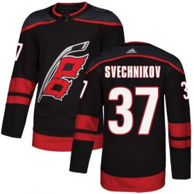Wholesale Cheap Adidas Hurricanes #37 Andrei Svechnikov Black Alternate Authentic Stitched Youth NHL Jersey