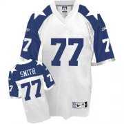 Wholesale Cheap Cowboys #77 Tyron Smith White Thanksgiving Stitched Throwback NFL Jersey
