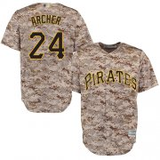 Wholesale Cheap Pirates #24 Chris Archer Camo New Cool Base Stitched MLB Jersey
