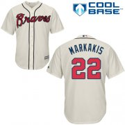 Wholesale Cheap Braves #22 Nick Markakis Cream Cool Base Stitched Youth MLB Jersey