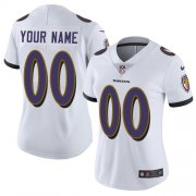 Wholesale Cheap Nike Baltimore Ravens Customized White Stitched Vapor Untouchable Limited Women's NFL Jersey