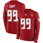 Wholesale Cheap Nike Buccaneers #99 Warren Sapp Red Team Color Men's Stitched NFL Limited Therma Long Sleeve Jersey