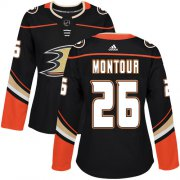 Wholesale Cheap Adidas Ducks #26 Brandon Montour Black Home Authentic Women's Stitched NHL Jersey