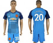 Wholesale Cheap Manchester United #20 S.Romero Blue Soccer Club Jersey