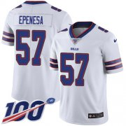 Wholesale Cheap Nike Bills #57 A.J. Epenesas White Youth Stitched NFL 100th Season Vapor Untouchable Limited Jersey