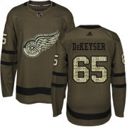 Wholesale Cheap Adidas Red Wings #65 Danny DeKeyser Green Salute to Service Stitched NHL Jersey