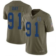 Wholesale Cheap Nike Colts #91 Sheldon Day Olive Youth Stitched NFL Limited 2017 Salute To Service Jersey