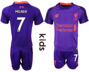Wholesale Cheap Liverpool #7 Milner Away Kid Soccer Club Jersey