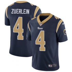 Wholesale Cheap Nike Rams #4 Greg Zuerlein Navy Blue Team Color Men\'s Stitched NFL Vapor Untouchable Limited Jersey