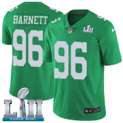 Wholesale Cheap Nike Eagles #96 Derek Barnett Green Super Bowl LII Men's Stitched NFL Limited Rush Jersey