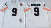 Wholesale Cheap Mitchell&Ness Bears #9 Jim McMahon White Big No. Throwback Stitched NFL Jersey