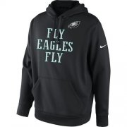 Wholesale Cheap Men's Philadelphia Eagles Nike Black Fly Eagles Fly Pullover Hoodie
