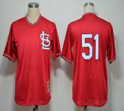 Wholesale Mitchell And Ness 1985 Cardinals #51 Willie McGee Red Stitched Baseball Jersey