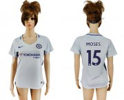 Wholesale Cheap Women's Chelsea #15 Moses Away Soccer Club Jersey