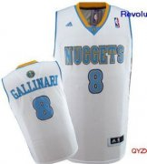 Wholesale Cheap Denver Nuggets #8 Danilo Gallinari Revolution 30 Swingman White Jersey