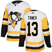 Wholesale Cheap Adidas Penguins #13 Brandon Tanev White Road Authentic Stitched NHL Jersey