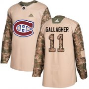 Wholesale Cheap Adidas Canadiens #11 Brendan Gallagher Camo Authentic 2017 Veterans Day Stitched Youth NHL Jersey