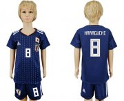 Wholesale Cheap Japan #8 Haraguchi Home Kid Soccer Country Jersey