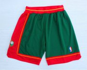 Wholesale Cheap Men's Seattle Supersonics Green 1995-96 Hardwood Classics Swingman Shorts