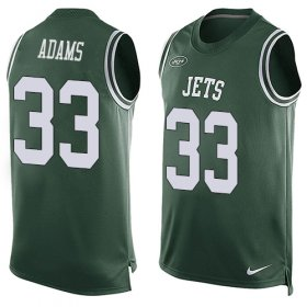Wholesale Cheap Nike Jets #33 Jamal Adams Green Team Color Men\'s Stitched NFL Limited Tank Top Jersey