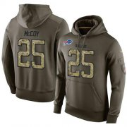 Wholesale Cheap NFL Men's Nike Buffalo Bills #25 LeSean McCoy Stitched Green Olive Salute To Service KO Performance Hoodie