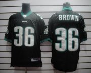 Wholesale Cheap Eagles #36 Ronnie Brown Black Stitched NFL Jersey