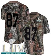 Wholesale Cheap Nike Chiefs #87 Travis Kelce Camo Super Bowl LIV 2020 Men's Stitched NFL Limited Rush Realtree Jersey