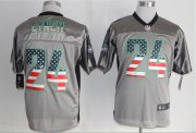 Wholesale Nike Seahawks #24 Marshawn Lynch Grey Men's Stitched NFL Elite USA Flag Fashion Jersey
