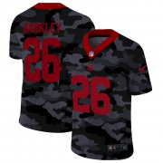 Cheap New York Giants #26 Saquon Barkley Men's Nike 2020 Black CAMO Red Vapor Untouchable Limited Stitched NFL Jersey