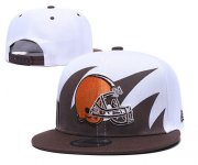 Wholesale Cheap Browns Team Logo brown White Adjustable Hat