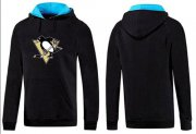 Wholesale Cheap Pittsburgh Penguins Pullover Hoodie Black & Blue