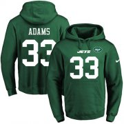 Wholesale Cheap Nike Jets #33 Jamal Adams Green Name & Number Pullover NFL Hoodie