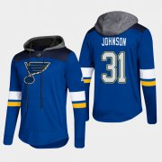 Wholesale Cheap Blues #31 Chad Johnson Blue 2018 Pullover Platinum Hoodie