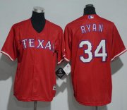 Wholesale Cheap Rangers #34 Nolan Ryan Red Cool Base Stitched Youth MLB Jersey