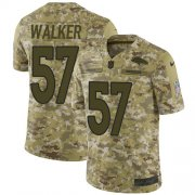 Wholesale Cheap Nike Broncos #57 Demarcus Walker Camo Youth Stitched NFL Limited 2018 Salute to Service Jersey